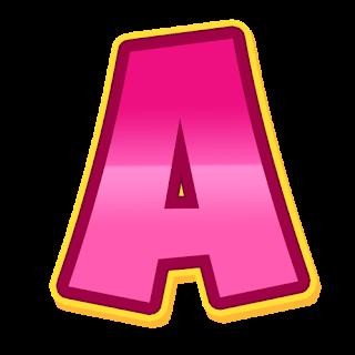 Letra de paw patrol rosa para imprimir