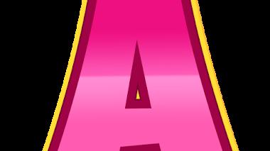 Letras de paw patrol rosas para imprimir