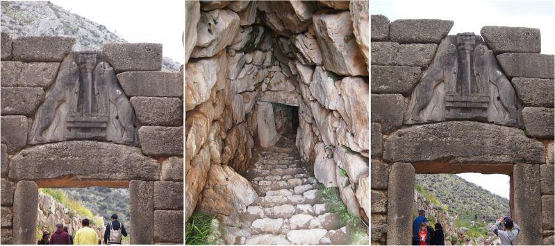 Relief vom Löwentor und oberer Zugang zur Zisterne
