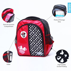 Minnie Red Backpack S - Tas sekolah Ransel anak