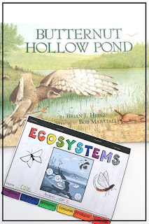 Using picture books like Butternut Hollow Pond to enhance your science unit on ecosystems and ecology