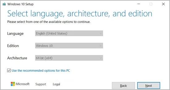 إعداد Windows 10