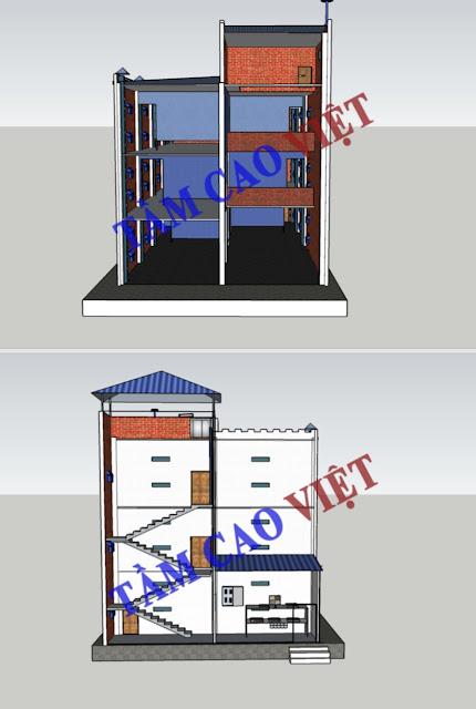 Bản vẽ thiết kế mô hình nhà nuôi chim yến 10x20x3 dành cho tỉnh An Giang và các tỉnh miền tây nam bộ