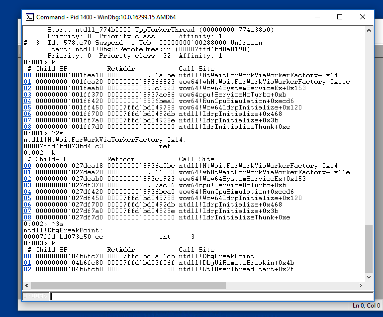 Windows Exploit Development (primer) : Debugging Threads and