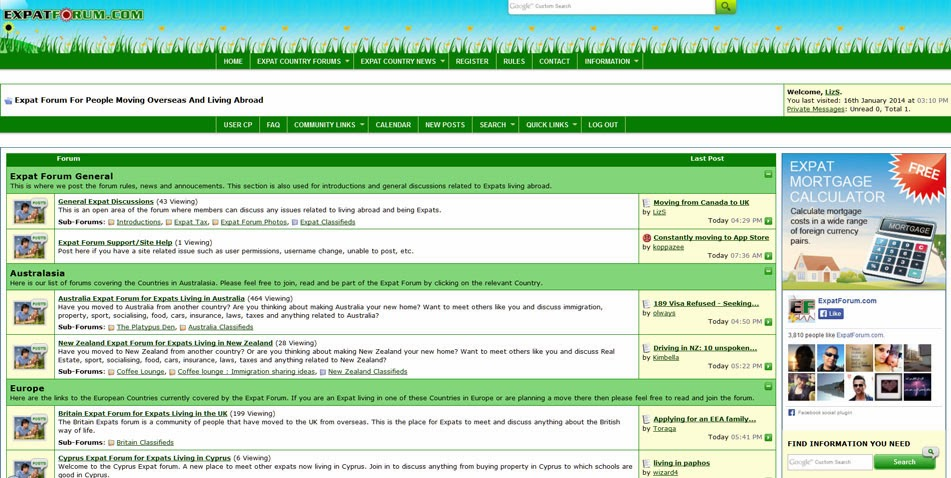 Unsettled Living: Wednesday Web Resource: Expat Forum