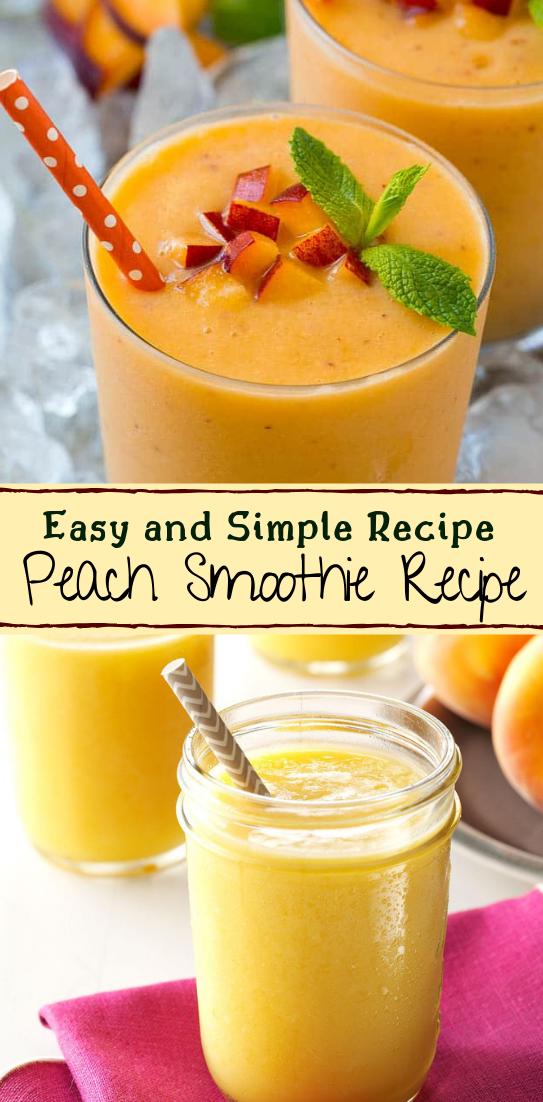 Peach Smoothie Recipe  #healthydrink #easyrecipe #cocktail #smoothie
