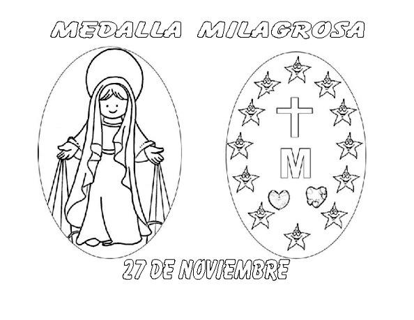 ReliArtes: Dibujos Medalla Milagrosa Y Santa Catalina Labourè