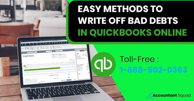write off bad debt in quickbooks