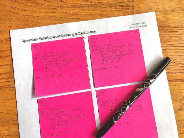Photo of sticky note observation slips.