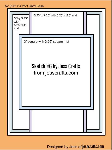 Card Sketch #6 by Jess Crafts