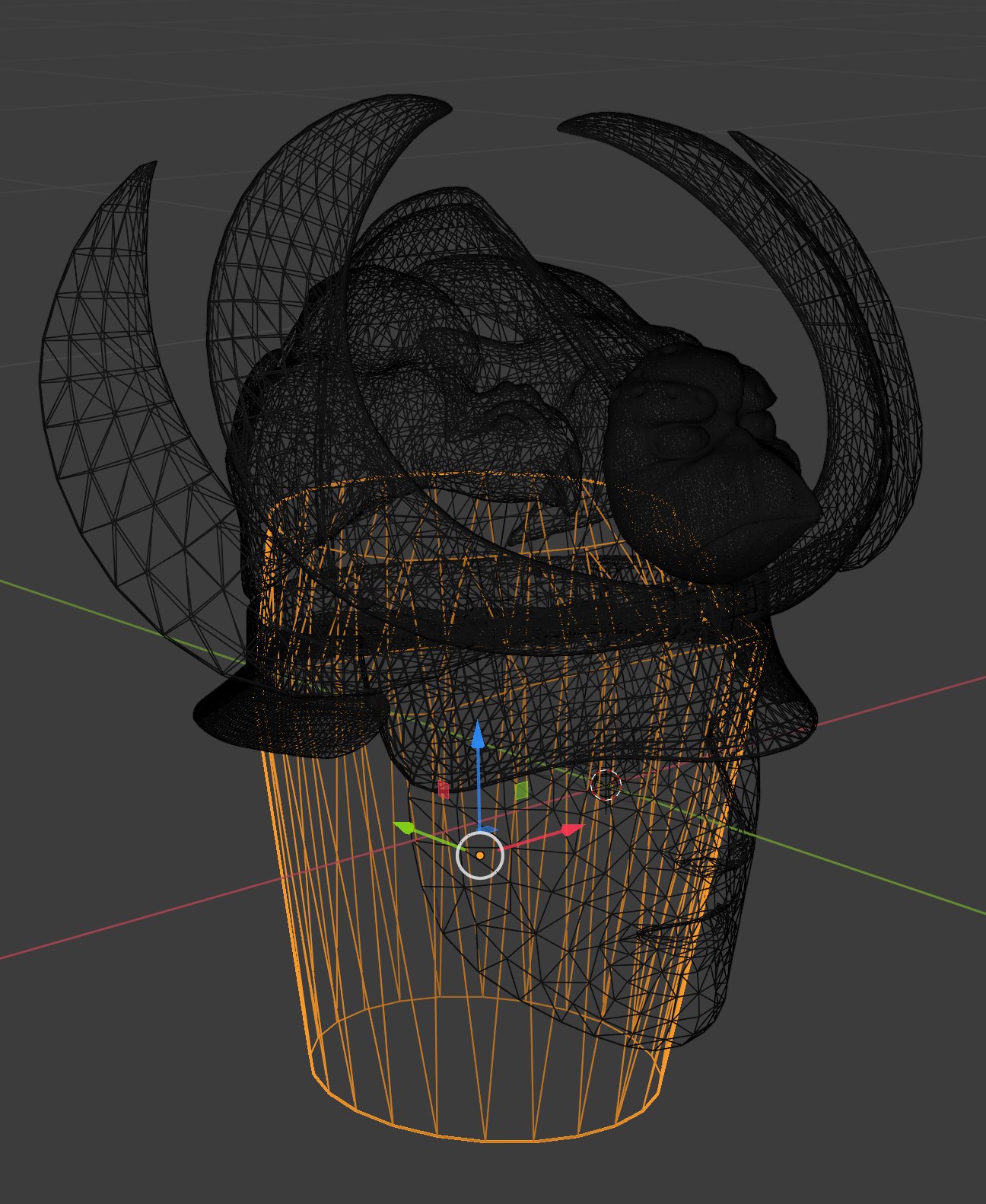 Figure 4. Creating the 3D mesh showing layers and masks.