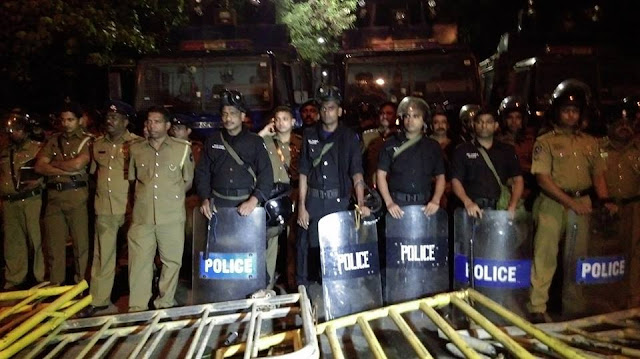 Police use tear gas, water cannon to disperse protestors
