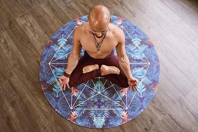 Men doing yoga on mat