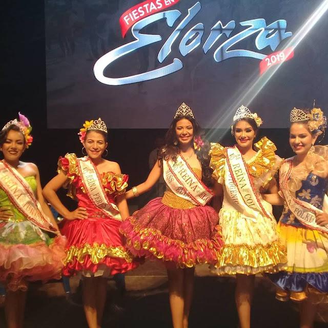 Una belleza elorzana. Reina del Folclor. Fiestas de Elorza 2019.