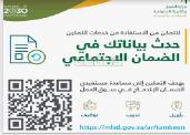 تحديث بيانات مستفيدي الضمان الاجتماعي 1441/2020