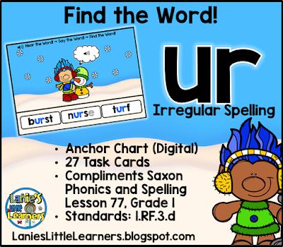 Combination ur (Bossy r): Read It! Say It! Find It!