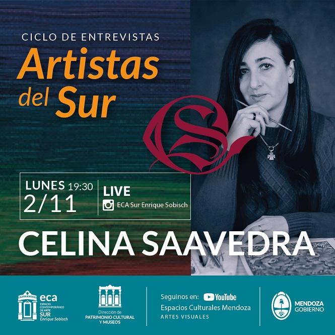 La artista Celina Saavedra protagonista del próximo vivo con artistas del Sur
