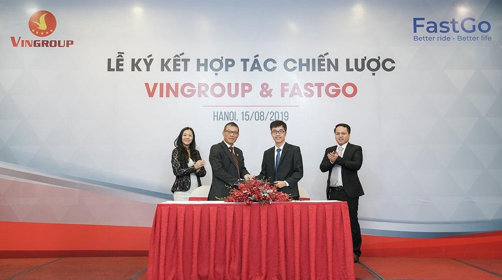 Vingroup hợp tác FastGo cung cấp dịch vụ gọi xe công nghệ