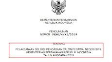 Pengumuman Dan Formasi CPNS 2019 Kementerian Keamanan Kemenhan Pdf