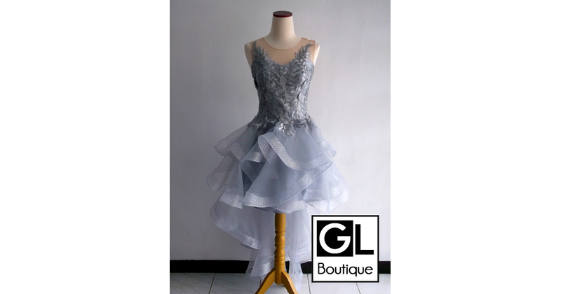 SHORT DRESS WITH SLEEVES PROM<br/>Turangga<br/>