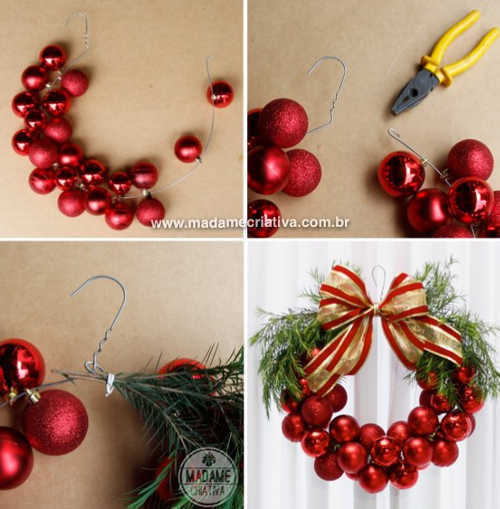 shopping list aff red ornaments ribon - Christmas Decorations List