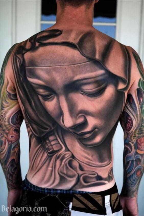 Tatuajes De La Virgen María En La Espalda