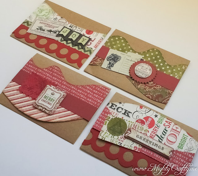Quick and easy Christmas cards -- www.MightyCrafty.me