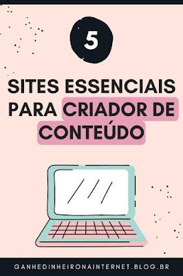5 sites para criadores de conteudo