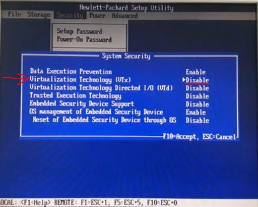 host supports intel VT-x but vmware workstation حل مشكلة