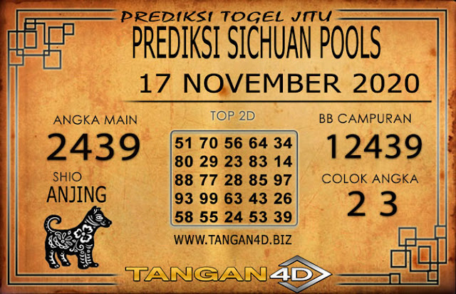 PREDIKSI TOGEL SICHUAN TANGAN4D 17 NOVEMBER 2020
