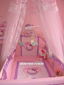 IDEAS PARA TU BEBE: IDEA DE HABITACION HELLO KITTY