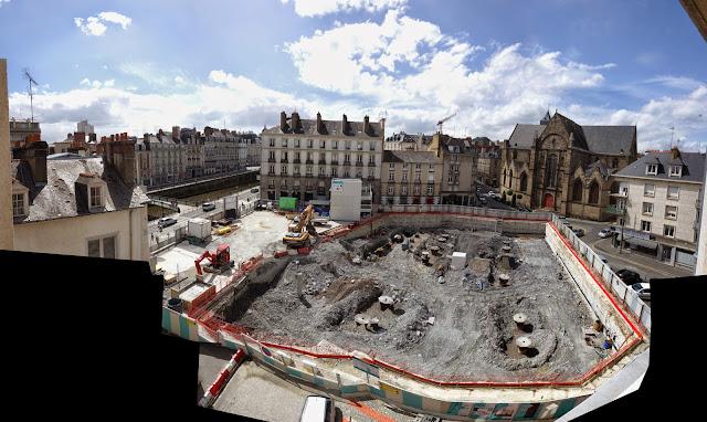 Le chantier du métro Place Saint-Germain le jeudi 14 mai 2015