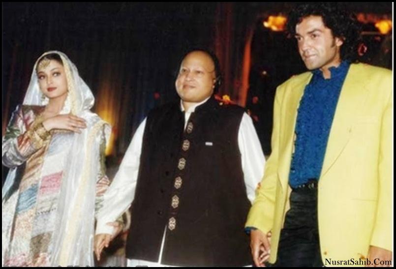 Aishwarya Rai Nusrat Fateh Ali Khan and Bobby Deol