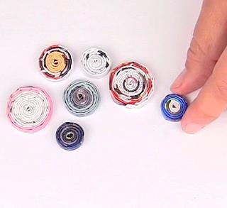Taşlı Düğmelerden Takı Boncuğu Yapımı