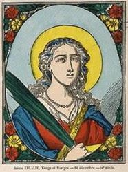 Sainte Eulalie Image d'Epinal
