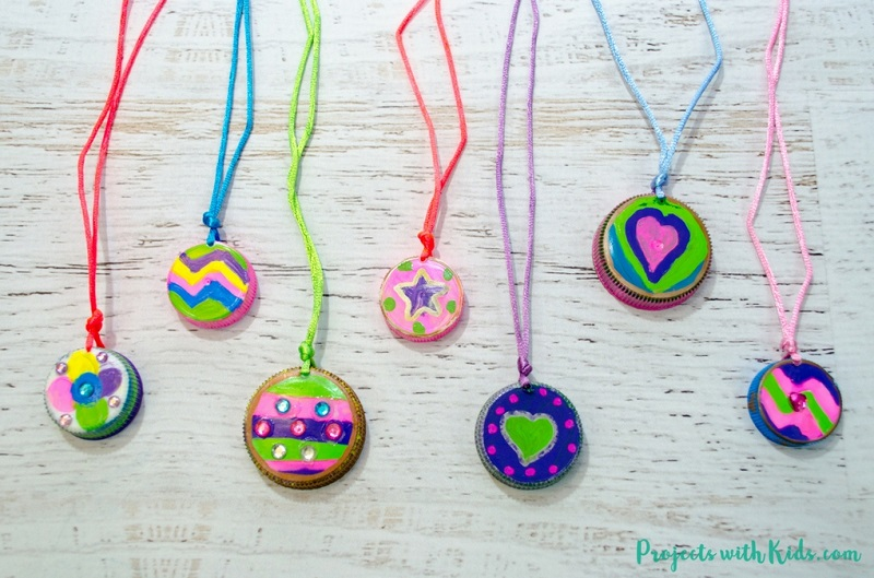 upcycled bottle top lid necklaces