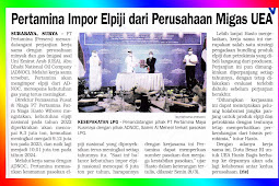 Pertamina imports LPG from the UAE Oil and Gas Company