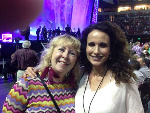 Rosy the reviewer blogger and i just happened to run into andie macdowell at the cher concert how do you like my earrings are those the earrings of an old retired lady shopping m4hsunfo