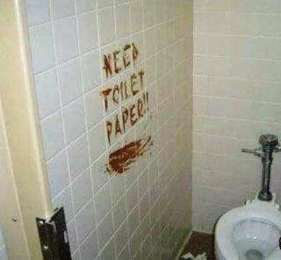 lustige Klosprüche kein Toilettenpapier heilige Scheiße