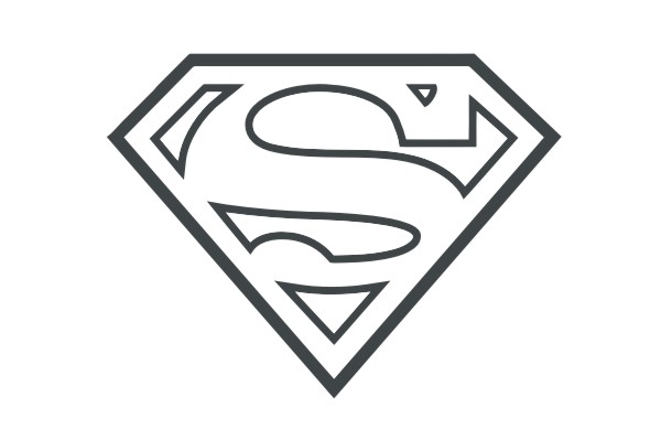 Superman Logo Bw | Vector Game