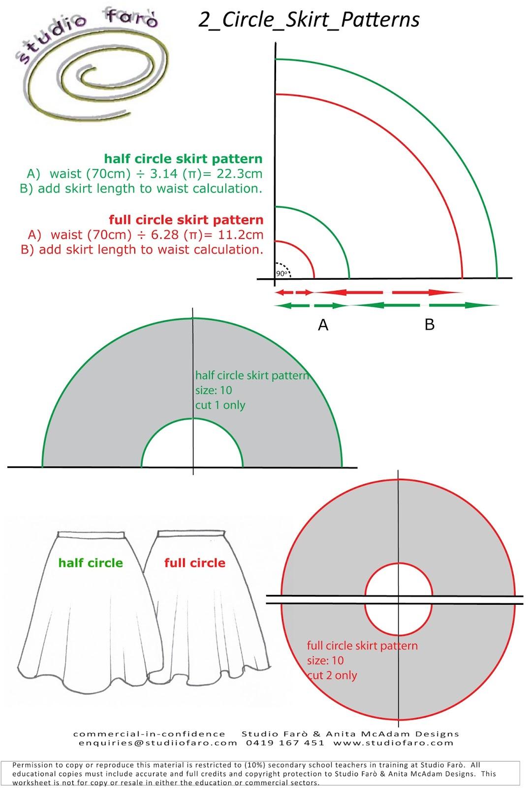 Free Circle Skirt Pattern 60