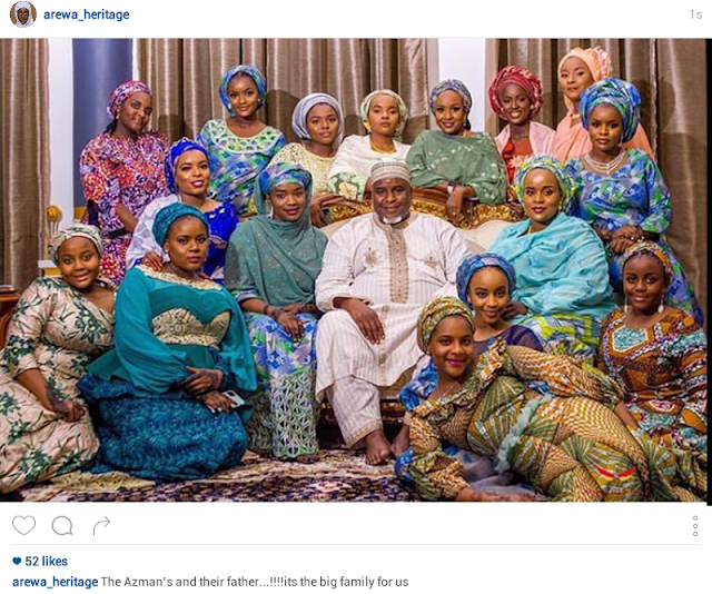 Billionaire businessman, Alhaji Abdulmunaf Yunusa Sarina Shows off his daughters