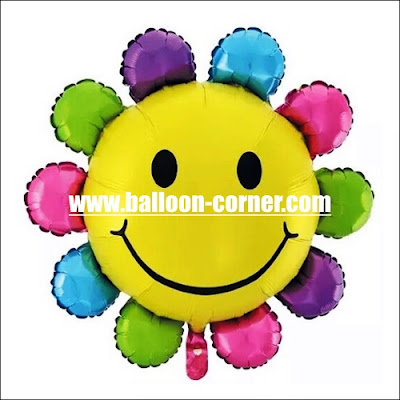 Balon Foil Sun Smile Rainbow Mini