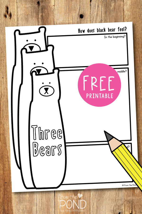 Printable Worksheet For Three Bears By Cliff Wright