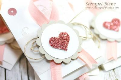Stampinup Stempelparty; Gastgestgeschenke Stempelparty; Milka Naps Verpackung; Schnelle Schokoladenverpackung; Gastgeschenke Hochzeit; Stempel-Biene