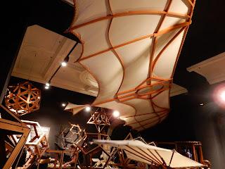 LEONARDO INTERACTIVE MUSEUMの空飛ぶ器具の展示模型