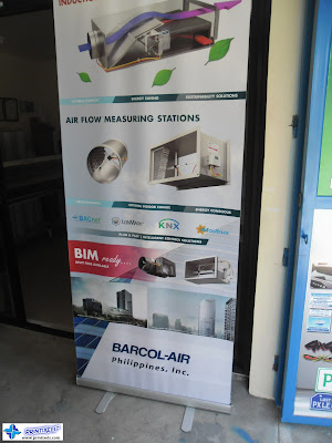 Tarpaulin with Pull Up Stand - Barcol Air Philippines