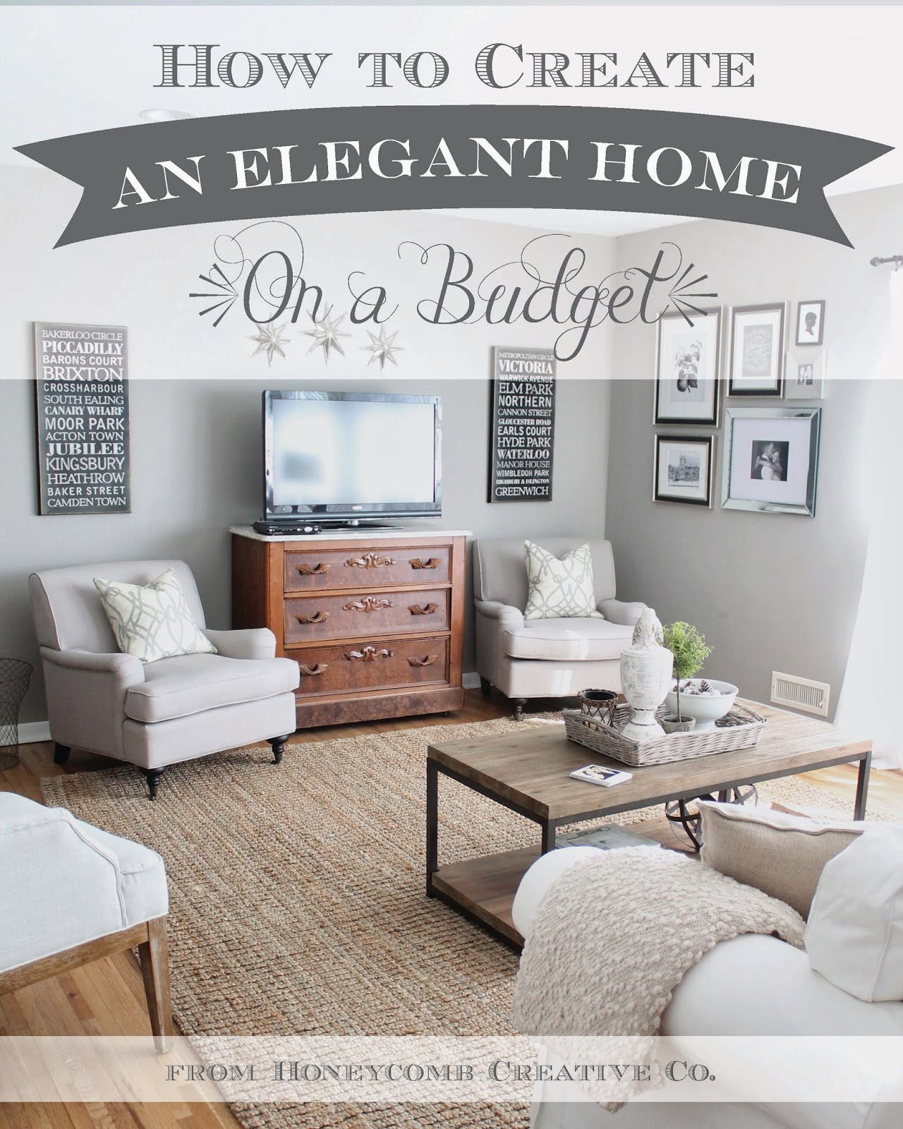 12th and White: How To Create an Elegant Home on a Budget ... on Apartment Decor Ideas On A Budget  id=75454