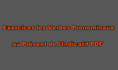 Exercices les Verbes Pronominaux au Présent de l'Indicatif PDF