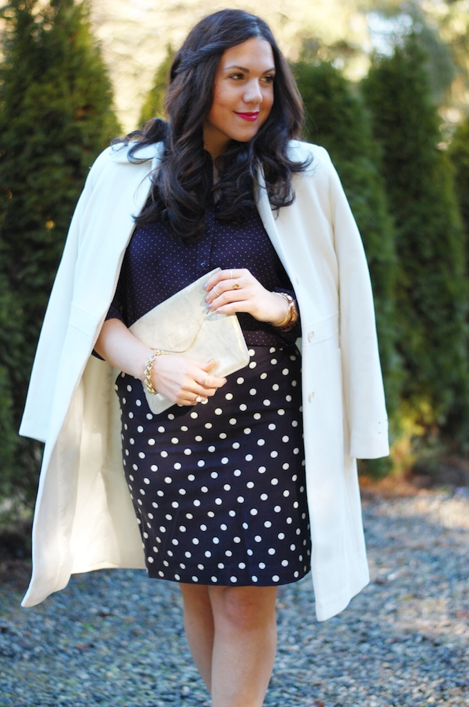 Polka dot pattern mixing Vancouver fashion blog Covet and Acquire